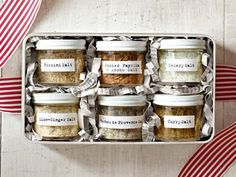 How to make flavored salts: wild mushrooms, ancho chilies, or garam masala. Plus: free printable labels! #holiday #food #gifts