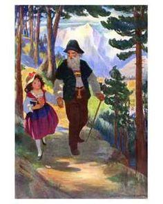 Heidi, by Johanna Spyri, illustrated by Jessie Wilcox Smith