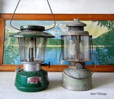 Vintage camping lanterns.