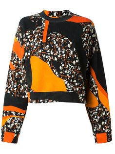 Acne Studios 'Bird Terazzo' Sweatshirt Multicoloured cotton-blend 'Bird Terazzo' sweatshirt from Acne featuring all over print, a round neck and full length sleeves. gefunden auf Styletorch