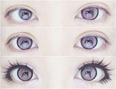 Beautiful gyaru make, amazing eyelashes. I love the minimal lower lashes.