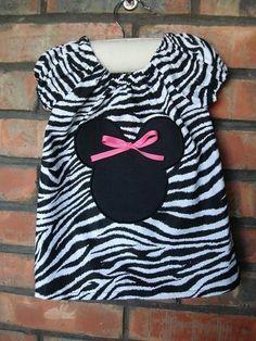 Minnie Mouse Zebra peasant dress by BellaLoveBoutique