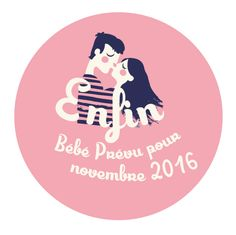 Annonce grossesse Badge amoureux