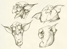 Goblin or gremlin head sketches Goblin Art, Step By Step Sketches, Character Art, Character Design, David Bowie Art, Dungeons And Dragons Characters, Supernatural Beings, Fantasy Races, Cartoon Sketches