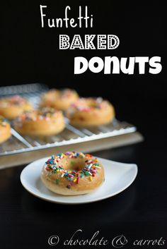 Funfetti Whole Wheat Baked Donuts | Chocolate and Carrots
