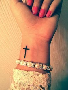 easy cross tattoo hand - Google Search.... *** Discover more by visiting the image