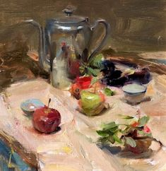 유 Still Life Brushstrokes 유 Nature Morte Paintings - Quang Ho