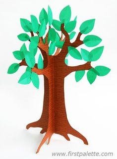 Step 8b 3D Paper Tree craft