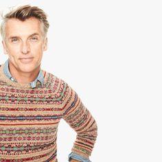 J.Crew Gift Guide: men's Fair Isle sweater in honey.