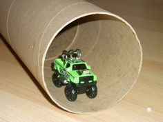 Tunnel for the Hot Wheels- wrapping paper tube?