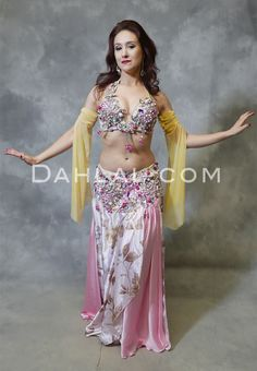 4ca1906e2cc0 CAIRO ROSE - Pink, Ivory, Fuchsia and Taupe, by Designer Rising Stars,  Egyptian Belly Dance Costume