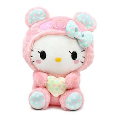 Hello Kitty pink bear with heart