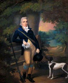 Man with a Dog by Ramsay Richard Reinagle, c.1790. Government Art Collection