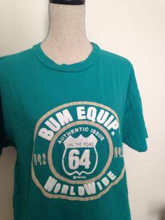 Vintage B.U.M Equipment 90s Tshirt by 21Vintage on Etsy