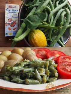 Kuchařka ze Svatojánu: FAZOLKY NAKYSELO S MANDLOVOU SMETANOU