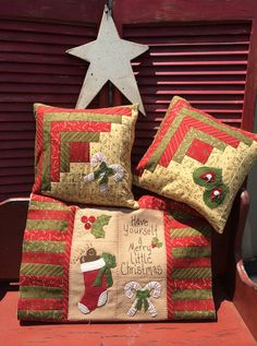 Have yourself a Merry Little Christmas pillow kit by myreddoordesigns on Etsy, $32.95