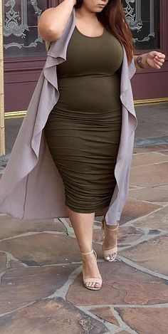 59 Plus Size Outfits Trending This Summer size fashion for women with belly 59 Plus Size Outfits Trending This Summer - Fashion New Trends Curvy Outfits, Mode Outfits, Plus Size Outfits, Fashion Outfits, Stylish Outfits, Grunge Outfits, Looks Plus Size, Look Plus, Flattering Plus Size Dresses