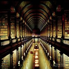 The Long Room Library in Dublin, Ireland.