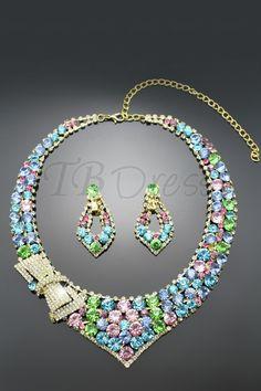 Rhinestone Wedding Jewelry Set