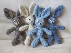 big ear bunny free crochet pattern by Very Berry Handmade