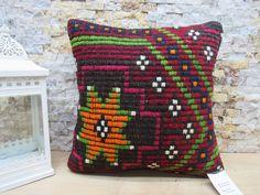 decorative pillow / organic kilim pillow / anatolian pillow / throw pillow / sofa pillow / turkish pillow / ethnic kilim pillow code 7558 Patio Pillows, Rustic Pillows, Sofa Throw Pillows, Bohemian Pillows, Kilim Pillows, Decorative Pillows, Aztec Pillows, Christmas Bags, Ethnic