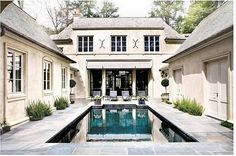 amazing courtyard with pool and a gorgeous facade