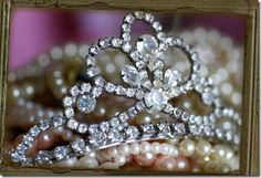tiara and pearls