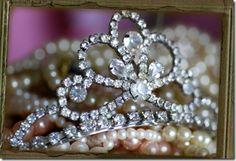 tiara and pearls