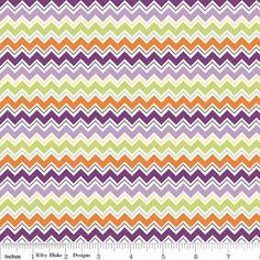 Purple and Orange Chevron Fabric Dress Up by RaspberryCreekFabric, $8.25