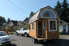 Grad Student's Tiny House Tour and Interview on Living Tiny  *I want a tiny house with a roof this shape!  I have always loved roofs this shape