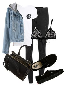 """Untitled #1533"" by beatifuletopshop ❤ liked on Polyvore featuring rag & bone, Hanky Panky, Victoria Beckham and Vans"