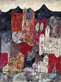 Paul Klee: Stadt der Kirchen (Kirchen am Berg). 1918.