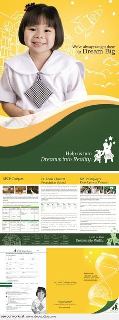 school campaign materials by { ideo studios } Client: St. Corporate Communication, Video Photography, Schools, Studios, It Works, Campaign, Advertising, Branding, Layout
