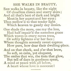 Best Poetry Images  Words Literatura Poetry She Walks In Beauty By George Gordon Lord Byron This Poem Is The Topics For Essays In English also How To Write An Essay Proposal  Persuasive Essay Sample Paper