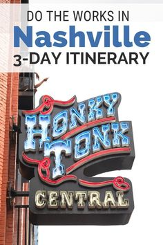 Do Music & More: Your Full Guide for Three Days in Nashville Do it all with this guide to three days in Nashville. Find the best things to do, places to eat and great spots for downtown music. Have your best Nashville vacation and weekend getaway! Nashville Things To Do, Weekend In Nashville, Nashville Vacation, Visit Nashville, Tennessee Vacation, Nashville Downtown, Attractions In Nashville Tn, Nashville Tennessee Hotels, Girls Trip Nashville