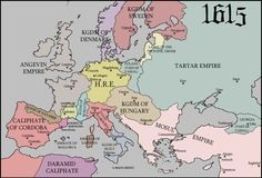 Caliphate of Cordoba Map, 1615 if it hadn't fallen