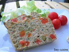 Dey cuisine : Terrine de thon aux légumes - facile à faire, excellent à manger (surtout avec de la mayo).