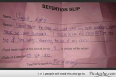 19 Detention Slips These Kids Need to Frame And Keep Forever