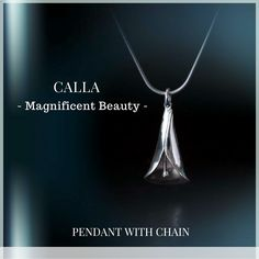 Handcrafted in Finland: Calla Silver Pendant Set With Chain and Earrings ON SALE this week: http://www.wowhowfinland.com/onlinestore/!/CALLA/c/21019106/offset%3D0%26sort%3DpriceDesc