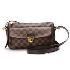 Louis Vuitton Ravello GM Damier Ebene Shoulder bags Brown Canvas N60006