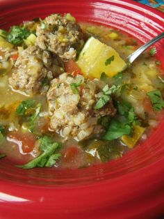 I Love this Soup. Easy and perfect for Fall/ Winter. Kicked-Up Albóndiga Soup! - Hispanic Kitchen