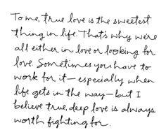 true | deep love