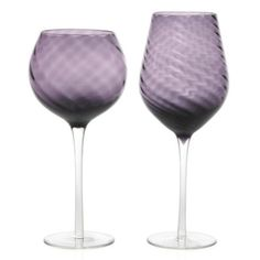 Swirl Stemware in Aubergine, to bring a shot of color to my dream dining room.. #zgallerie
