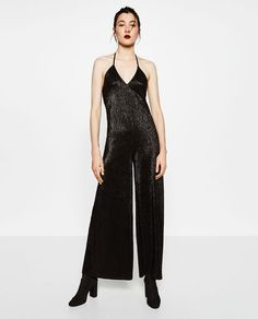 Image 1 of HALTER-NECK JUMPSUIT from Zara