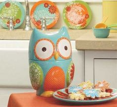 Would this be too nerdy of me?  So proud to be a Rice Owl!                                                                                          Owl Cookie Jar.  $40  Book it.