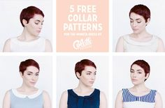 5 free collars, a download for the Moneta dress by Colette Patterns #sewing