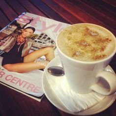 Great morning for a Chai latte and a magazine. Take some time out for yourself at Esprosini