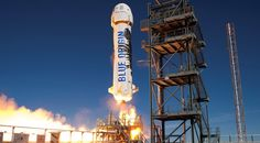 Blue Origin's New Shepard suborbital vehicle lifting off on a Jan. 22 test flight. Credit: Blue Origin