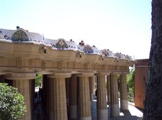 Inside Guell Park, Barcelona, Spain.  Designed by Antonio Gaudi, it's surprising and delighting at every turn.