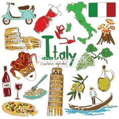 Vector Art : Collection of Italy icons